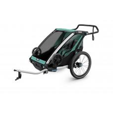 Мультиспортивный велосипедный прицеп Thule Chariot Lite 2 (Blue Grass/Black)